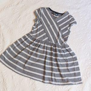 Coccoli Striped Wrap Dress 4T fits 2-3T